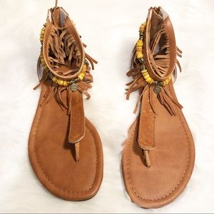 ISOLA LEATHER SANDALS SIZE 6.5